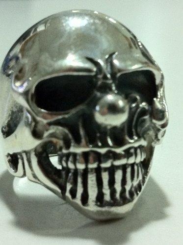 1%er Outlaws 925 No 13 Soild Silver Biker Ring Harley Skull Clown Art Motorcycle