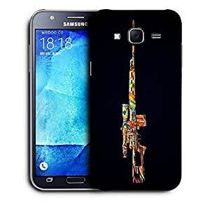 Snoogg Colorful Sniper Designer Protective Back Case Cover For SAMSUNG GALAXY J7