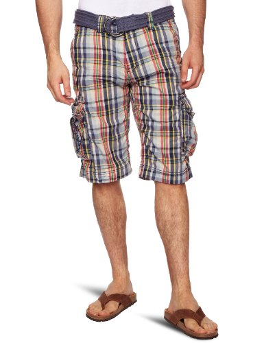 Kaporal Crepe Men's Shorts Blue Check W30 IN