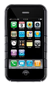 SwitchEasy Rebel Silicone Covered Crystal Case for iPhone 3G/3GS - Serpent Black