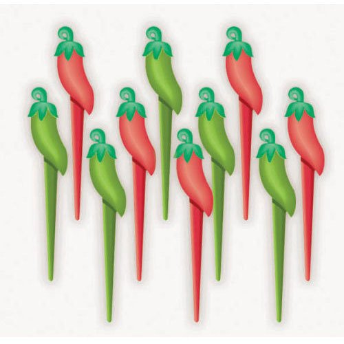 Chili Pepper Picks (10 per package) - 1