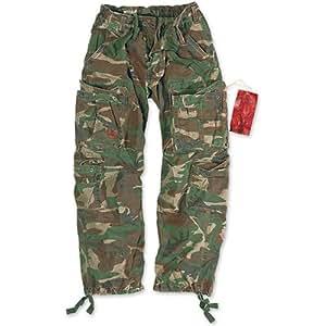 Surplus Airborne Vintage Pantalons Woodland Taille XL