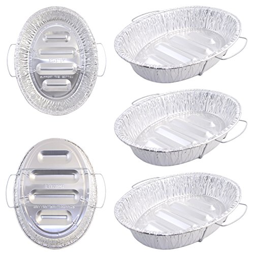 Pack of 5 Extra Large Disposable Aluminum Foil Roasting Pans