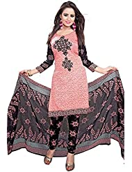 Shiroya Brothers Womens Cotton Unstitched Salwar Suit Dress Material (Shiroya_506_Pink)