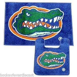 Florida gators 2 piece bath rug set - Florida gators bathroom decor ...