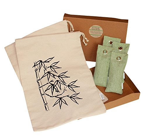 eco friendly bundle 4 bamboo charcoal air purifying deodorizers 2 cotton shoe travel bags. Black Bedroom Furniture Sets. Home Design Ideas