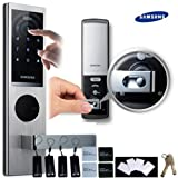SAMSUNG SHS-H630 New version of SAMSUNG SHS-6020 digital door lock keyless touchpad security EZON + 4pcs of RFID Cards + 4pcs of Key Tags + 4pcs of Sticky Key Tags + 2pcs of Emergency keys