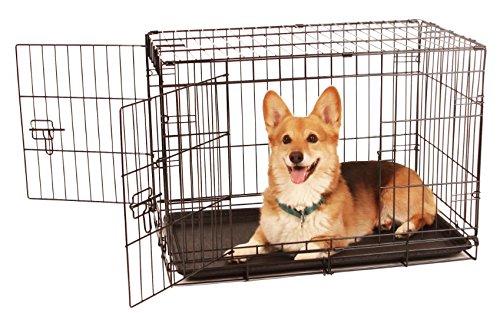 Carlson sichere und kompakte Hundebox mit zwei Türen, Größe M