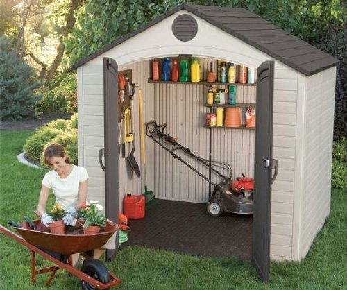 Pevensey Heavy Duty Plastic Garden Storage Shed - 8ft x 5ft
