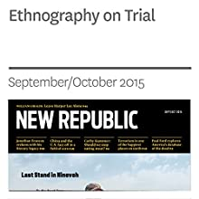 Ethnography on Trial (       UNABRIDGED) by Steven Lubet Narrated by Derek Shetterly