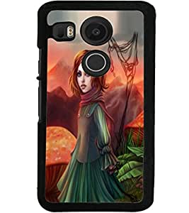ColourCraft Beautiful Girl Design Back Case Cover for LG GOOGLE NEXUS 5X
