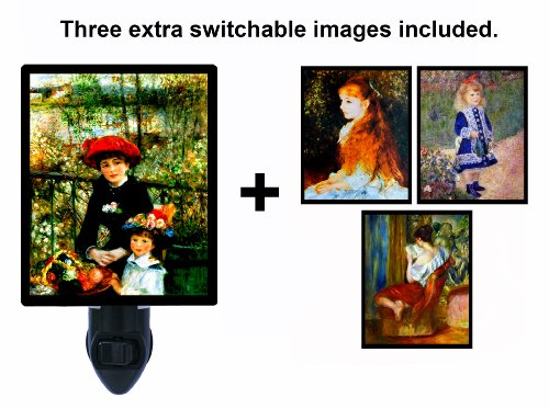 Night Light W/ Switchable Inserts - Renoir - Old Masters front-180269
