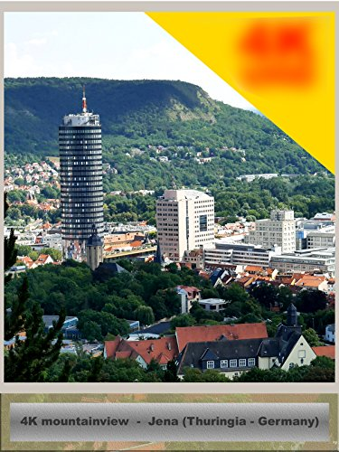 4K UHD Mountainview over german city Jena