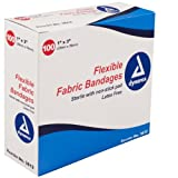 Dynarex Adhesive Fabric Bandage, 1 Inches X 3 Inches Sterile,...