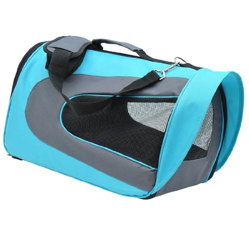 Pawhut Pet Dog Soft Sided Travel Carrier Tote Bag - Light Blue front-414405