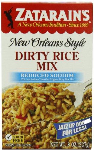 ZATARAIN'S Reduced Sodium Dirty Rice Mix, 8-Ounce (Pack of 6)