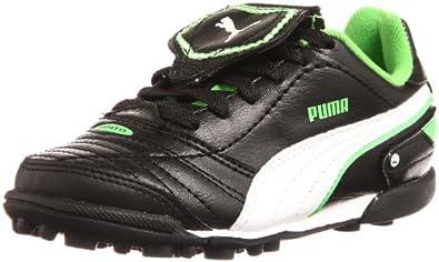 Puma Esito Finale TT Jr 102017, Unisex - Kinder Sportschuhe - Fußball, Schwarz (black-white-fluro green 08), EU 37 (UK 4) (US 5)