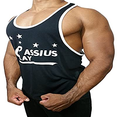 Cassius Mens Fitness Bodybuilding Workout muscle Tank tops shirts Stringer