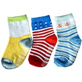 C2BB 3 pairs of boys anti slip baby socks children from 1 to 3 years old item 36