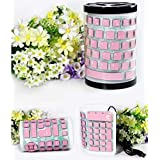 Good Voice Folding Portable USB Wired Keyboard Silicone Dustproof And Waterproof Mute Notebook Desktop Keyboard... - B0140XUGOC