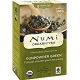 Numi Organic Tea Gunpowder Green, Full Leaf Green Tea, 18 Count Tea Bags (Pack of 3)