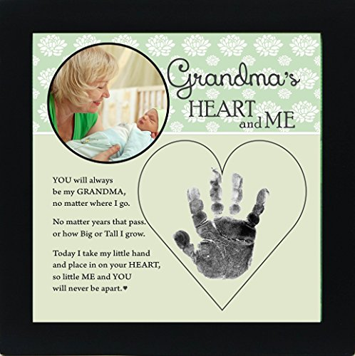 Baby Child Keepsake Handprint Frame with Poetry - Mommy, Daddy, Grandma or Grandpa (Grandma)