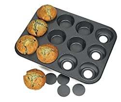 Bakeware Non Stick Muffin Pan Tray 12 Cup Muffin Pan With Removable Bases
