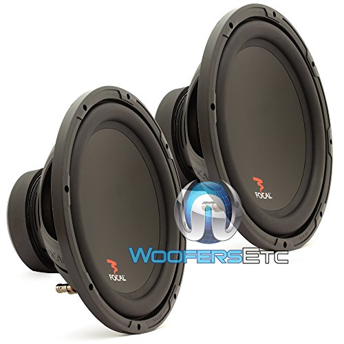 "Pair Of Sub P30 - Focal 12"" 250W Rms 500W Max Single 4-Ohm Subwoofer"