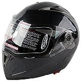 XFMT Dot Carbon Modular Flip Up Dual-Visor Sun Motorcycle Helmet S