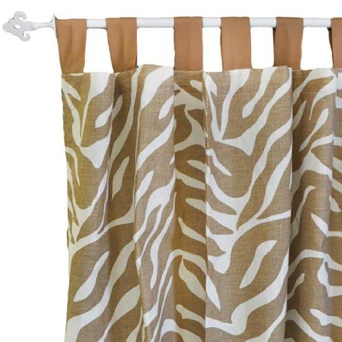 New Arrivals Curtain Panels, Safari in Sand, 2 Count