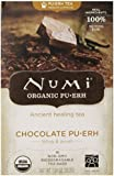 Numi Organic Tea Chocolate Pu-erh, Full Leaf Black Tea, 16 Count Tea Bags