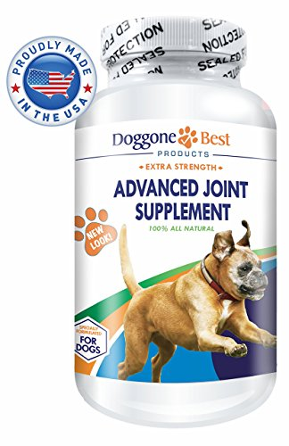 Glucosamine for Dogs - Chondroitin & MSM - Best Joint Supplement for Dogs - Omega 3 & 6 - Arthritis Pain Relief - Increase Mobility & Reduce Inflammation Due to Hip Dysplasia - Chewable - Made in USA (Young Again Dog Food compare prices)