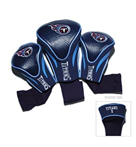 NFL Tennessee Titans 3 Pack Contour Fit Headcover by Team Golf