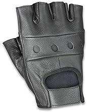 Cowhide Leather Fingerless Glove Black 2X
