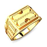 Candere 22k (916) Yellow Gold Caden Ring