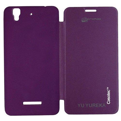 Casotec Premium Flip Case Cover for Micromax YU YUREKA AO5510 - Purple
