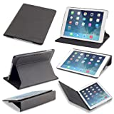 Devicewear Slim iPad Air Case the Ridge with Six Position Flip Stand, Magnetic, and On/Off Switch - Black (RDG-IPA-BLK)