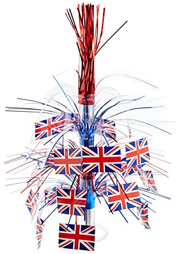 British Flag Cascade Centerpiece Party Accessory (1 count) (1/Pkg) - 1