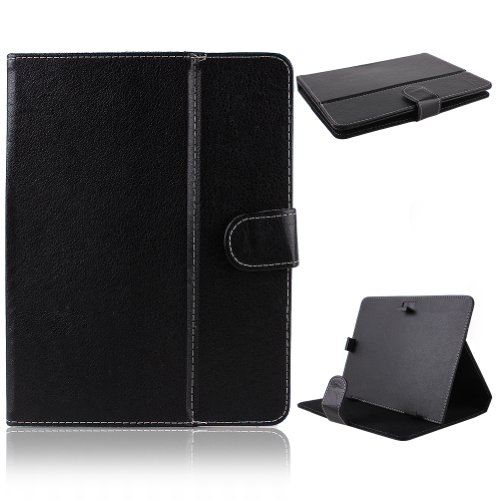 NSSTAR Infinite Fashion Faux PU Leather Protective Jut out Folio Flip Carrying Magnetic Box Cover for 8 Inch Android Tablet PC With 4:3 Telly (Black Style)