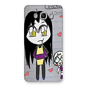 AJAYENTERPRISE Draw Girl on Paper Back Case Cover for Samsung Galaxy J5 2016