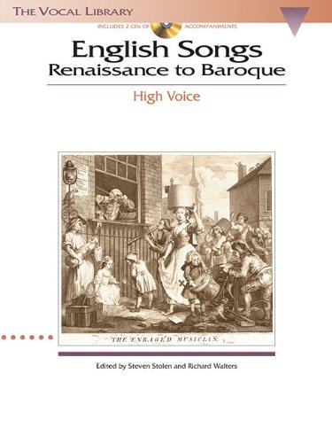 English Songs: Renaissance to Baroque: The Vocal Library High Voice