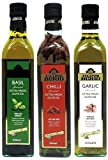 Filippo Berio 500ml x 3 (Garlic, Chilli, Basil) Flavoured Extra Virgin Olive Oil