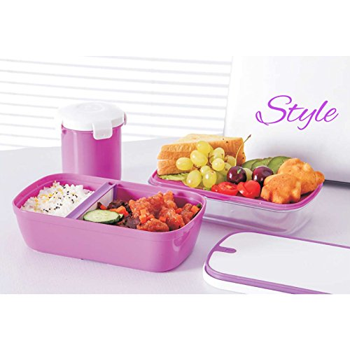 munch box crystal edition purple multi compartment bento style lunch box set with utensils and. Black Bedroom Furniture Sets. Home Design Ideas