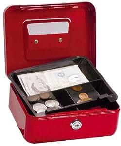 5 Star Office Cash Box 8 Inch W150xD200xH78mm Red