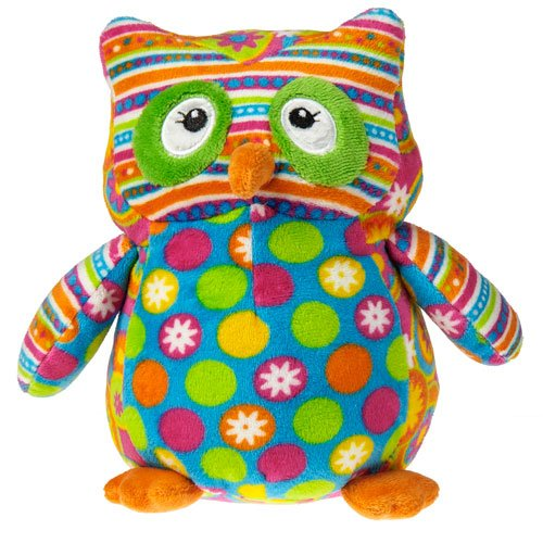 Mary Meyer New Arrivals Print Pizzazz Assortment of Baby Toys (Olio Owl - Spotted Belly)