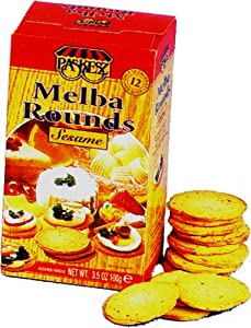Amazon.com: Paskesz Melba Toast, Melba Rounds Original