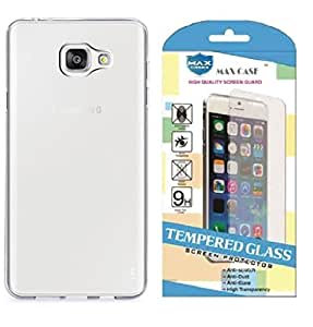 ZEDAK TRANSPARENT BACK COVER WITH TEMPERED GLASS FOR SAMSUNG GALAXY A9 PRO