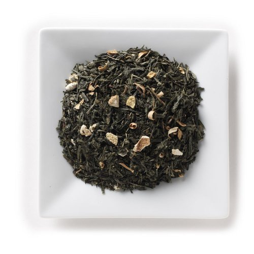 Mahamosa Earl Grey Sencha Tea 2 Oz - Flavored Loose Leaf Green Tea Blend (With Bergamot, Lemon, Orange)