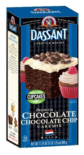Dassant Chocolate Chocolate Chip Cake Mix, 17.25-Ounce (Pack of 6)