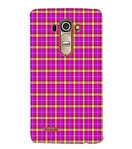EPICCASE funky checks Mobile Back Case Cover For LG G4 (Designer Case)